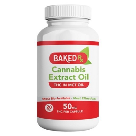 50mg THC Capsules (20 pack) by Baked Edibles