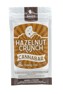 Hazelnut Crunch Cannabar (150mg THC)  by Baked Edibles