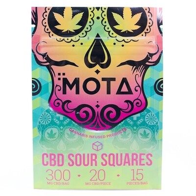 (300mg CBD) Sour Squares By Mota