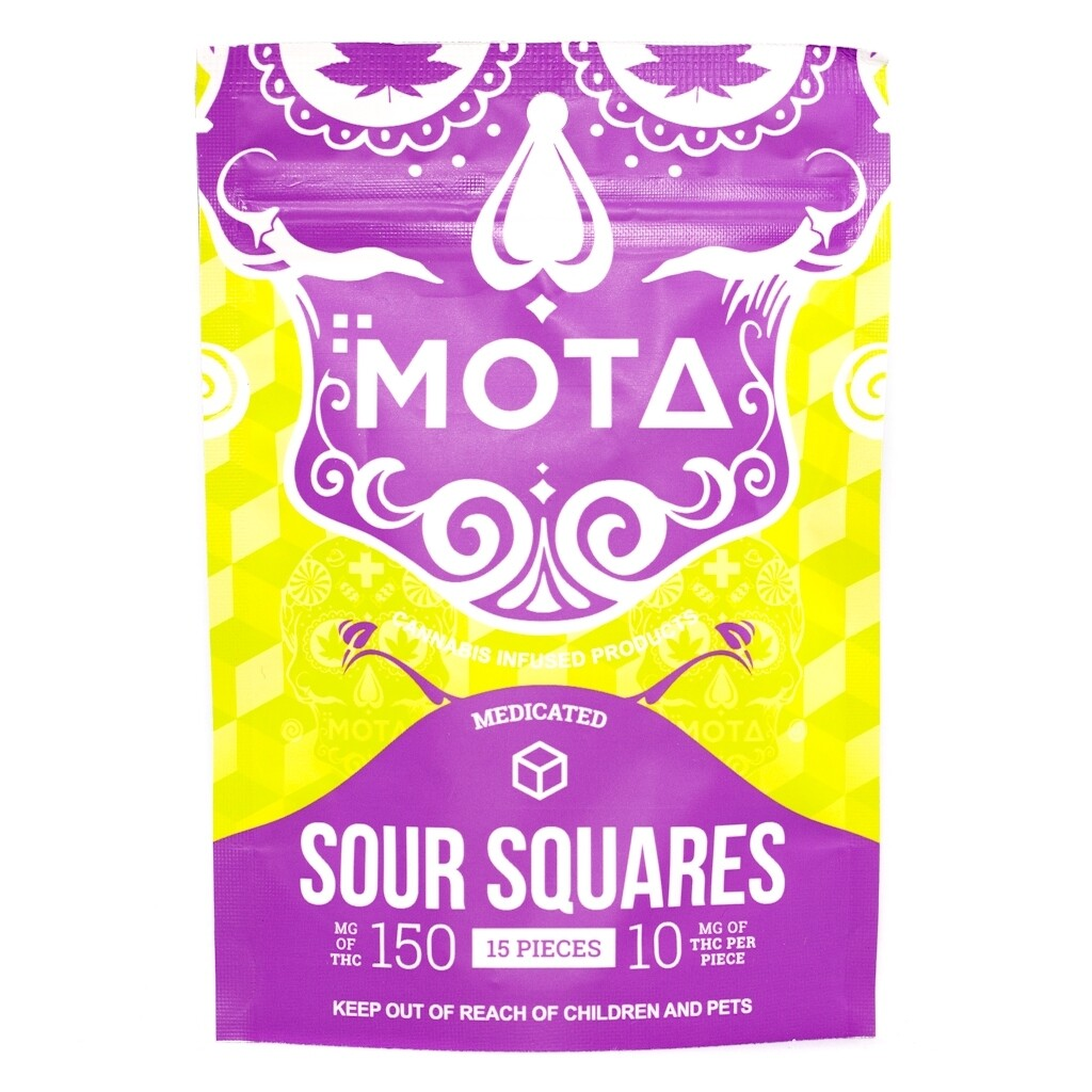 (150mg THC) Sour Squares By Mota