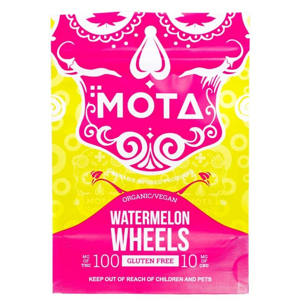 (100mg THC/10mg CBD) Watermelon Wheels By Mota (Organic, Vegan, Gluten Free)