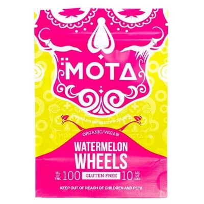 (100mg THC/10mg CBD) Watermelon Wheels By Mota (Organic, Vegan, Gluten Free)
