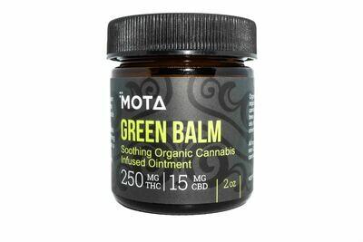 (250/500mg THC 15/30mg CBD) Green Balm (2oz & 4oz) By Mota