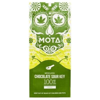 (100mg THC) Chocolate Dipped Sour Key By Mota