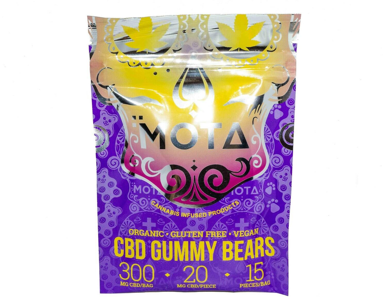 (300mg CBD) Organic Gummy Bears By Mota (Vegan/Gluten Free)