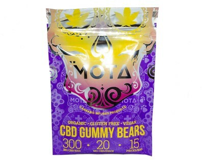 (300mg CBD) Organic Gummy Bears By Mota (Vegan/Gluten Free)