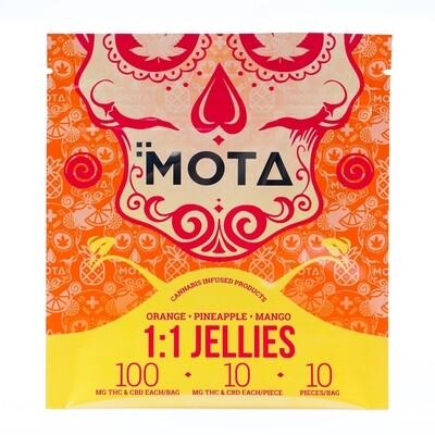 (100mg THC/100mg CBD) Jellies By Mota