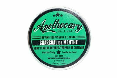 Charcoal de Menthe Shaving Soap By Apothecary
