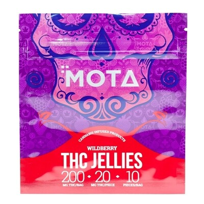 (200mg THC) Wild Berry Jellies By Mota