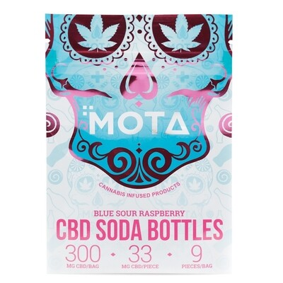 (300mg CBD) Blue Raspberry Soda Bottles By Mota