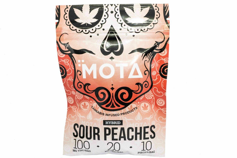 (100mg THC/ 20mg CBD) Sour Peaches By Mota