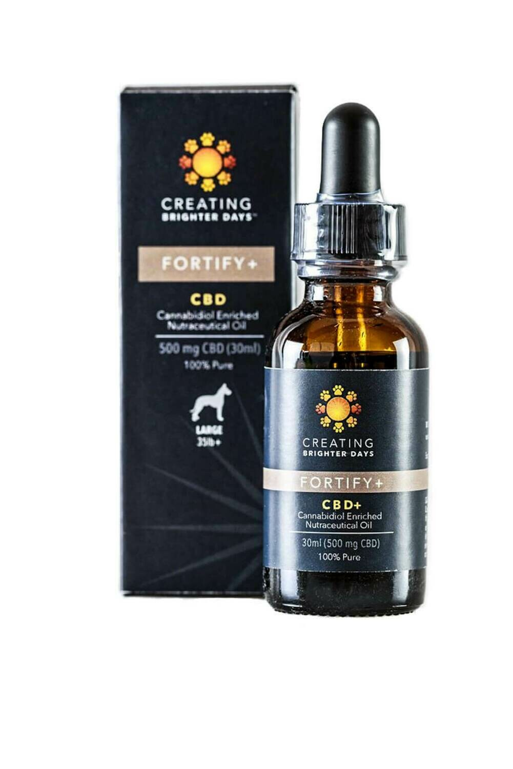 Fortify 500 Nutraceutical Pet Oil by Creating Brighter Days (Large Dogs >35Lbs)