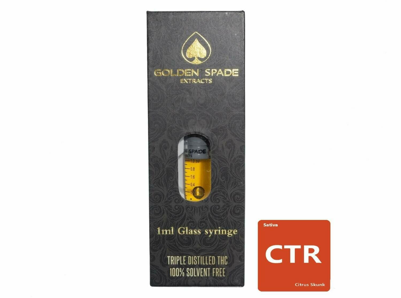 Citrus Skunk (Full Spectrum) (Sativa) 1ml Syringe by Golden Spade Extracts