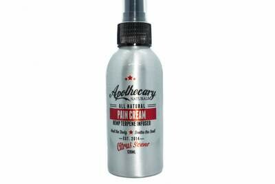 All Natural Pain Cream Citrus Scent (120ml pump) by Apothecary
