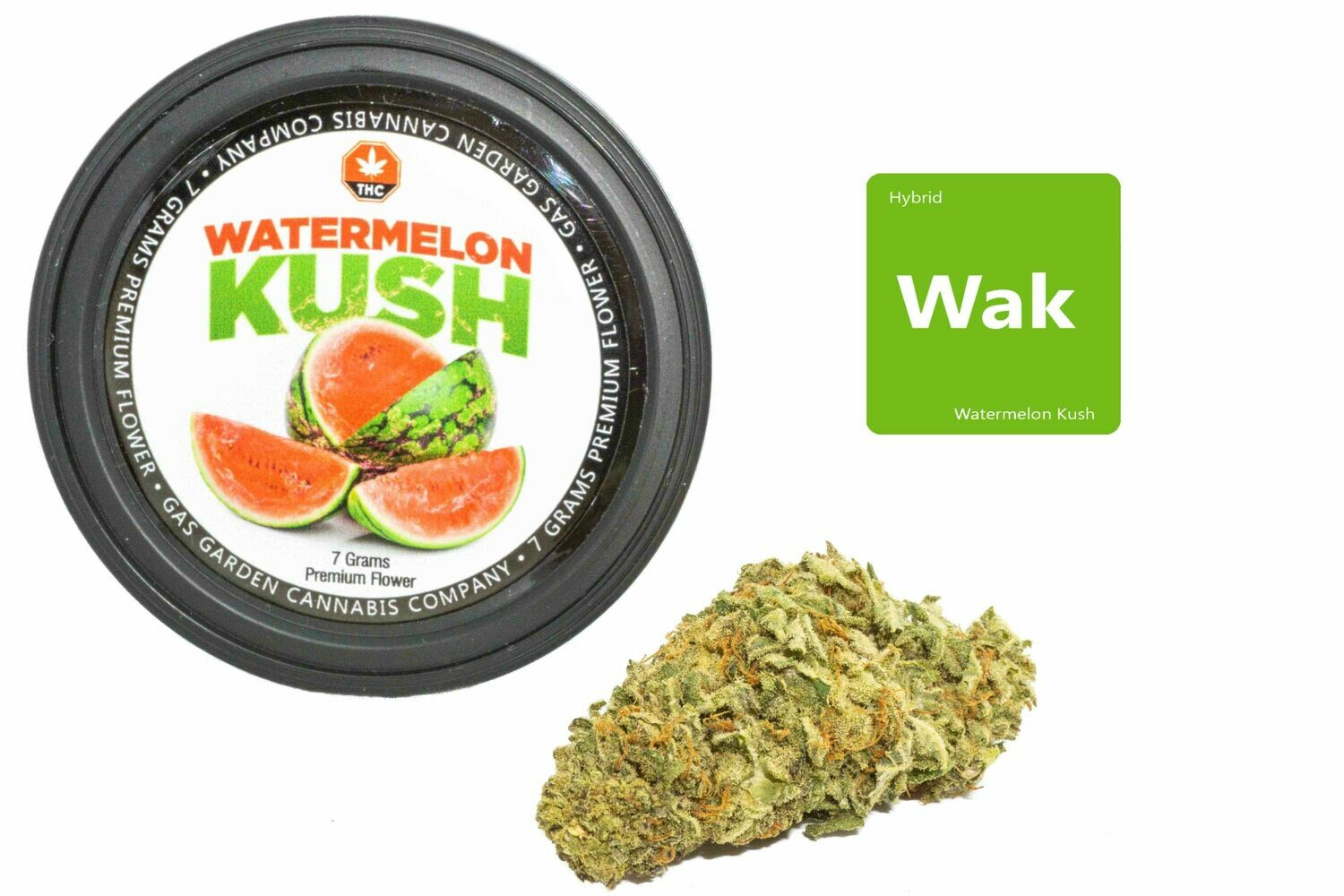 Watermelon Kush (7g Premium Flower Tin Can) By Gas Garden