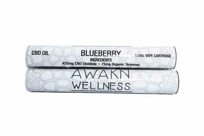 Blueberry (Full Spectrum) CBD Replacement Cartridge by Awakn Wellness
