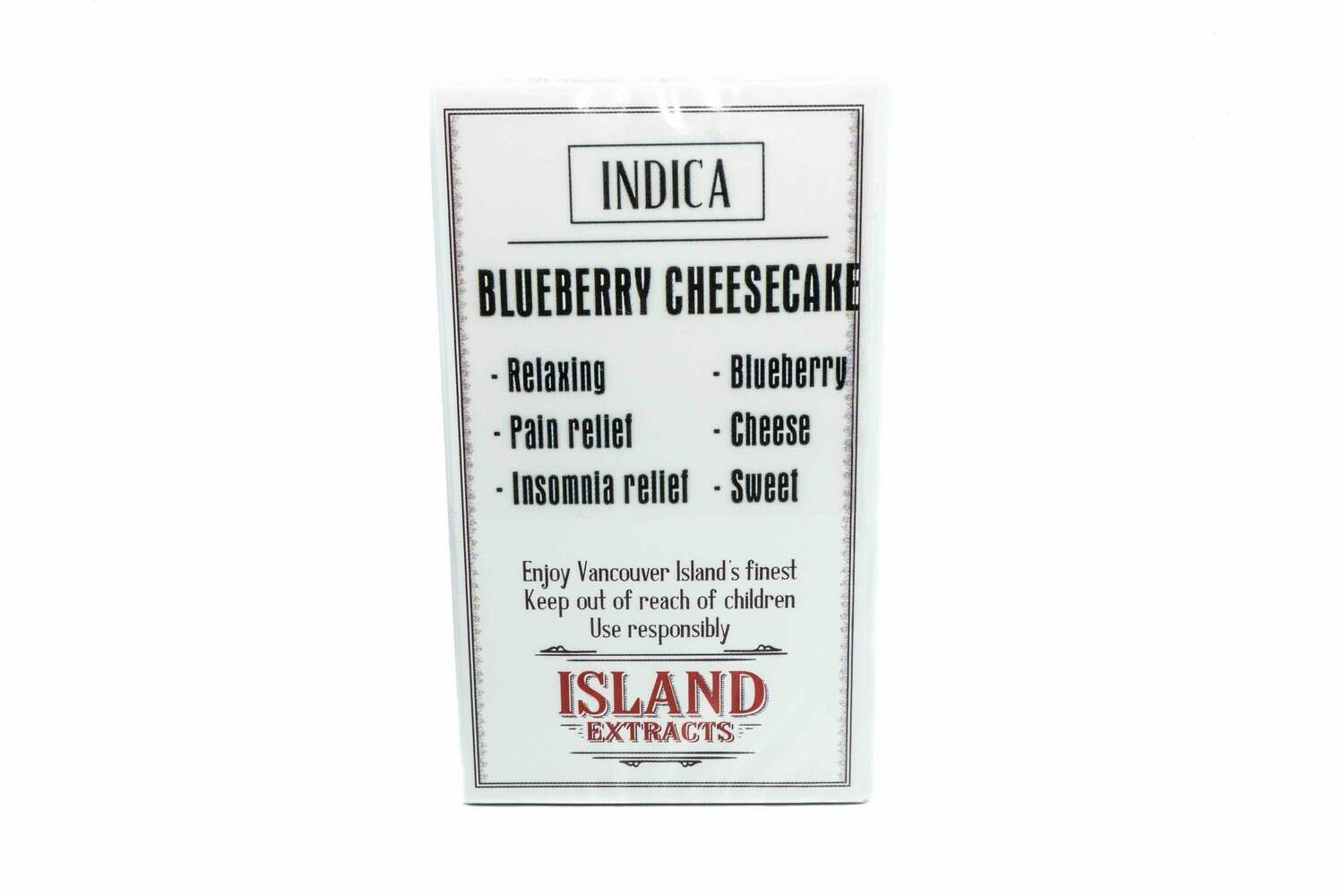 Blueberry Cheesecake (Indica) Premium Preroll (5/Pack) By Island Extracts