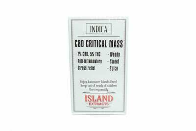 (CBD) Critical Mass Premium Preroll (5/Pack) By Island Extracts