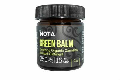 (250/500mg THC 15/30mg CBD) Green Balm (2oz & 4oz) By Mota