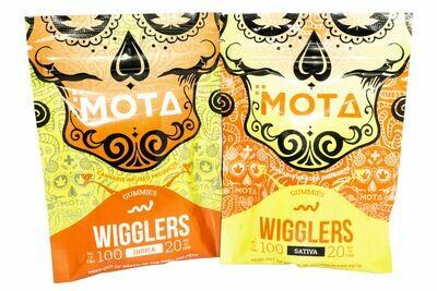 (100mg THC/ 20mg CBD) Wigglers By Mota