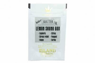 Lemon Skunk God Shatter (1g) by Island Extracts