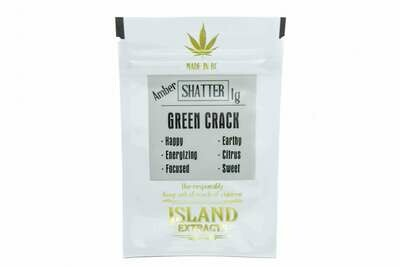 Green Crack Shatter (1g) by Island Extracts