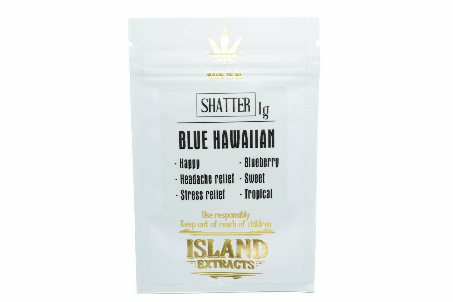 Blue Hawaiian Shatter (1g) by Island Extracts