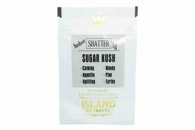 Sugar Kush Shatter (1g) by Island Extracts