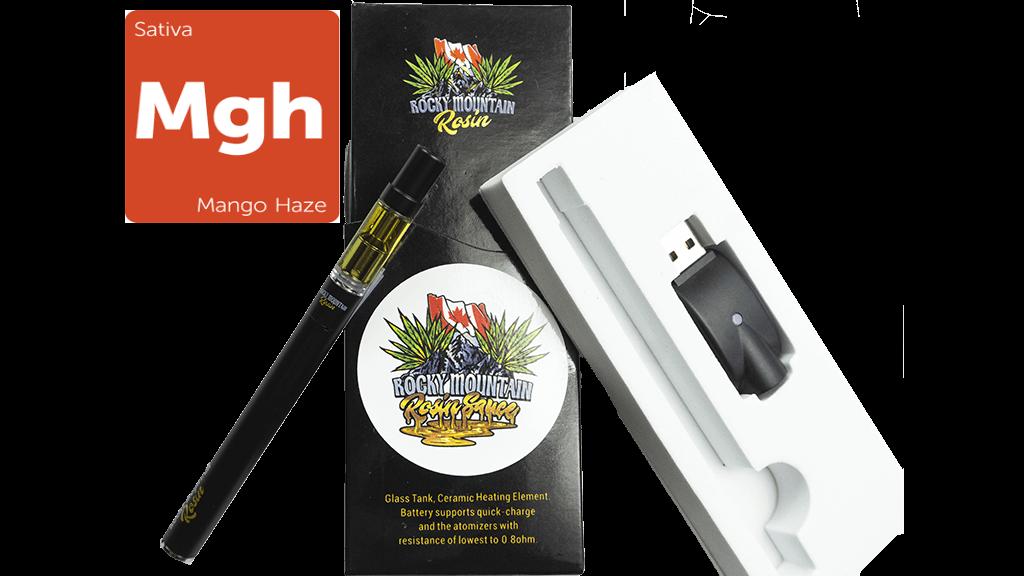 Mango Haze (Sativa) (Full Spectrum) Rosin (0.5ml/1ml) Vape Kit by Rocky Mountain