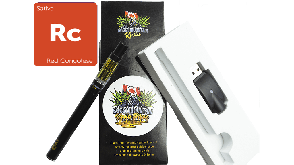 Red Congo (Sativa) (Full Spectrum) Rosin Vape Kit by Rocky Mountain