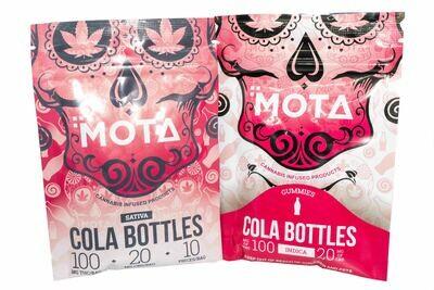 (100mg THC/20mg CBD) Cola Bottles By Mota