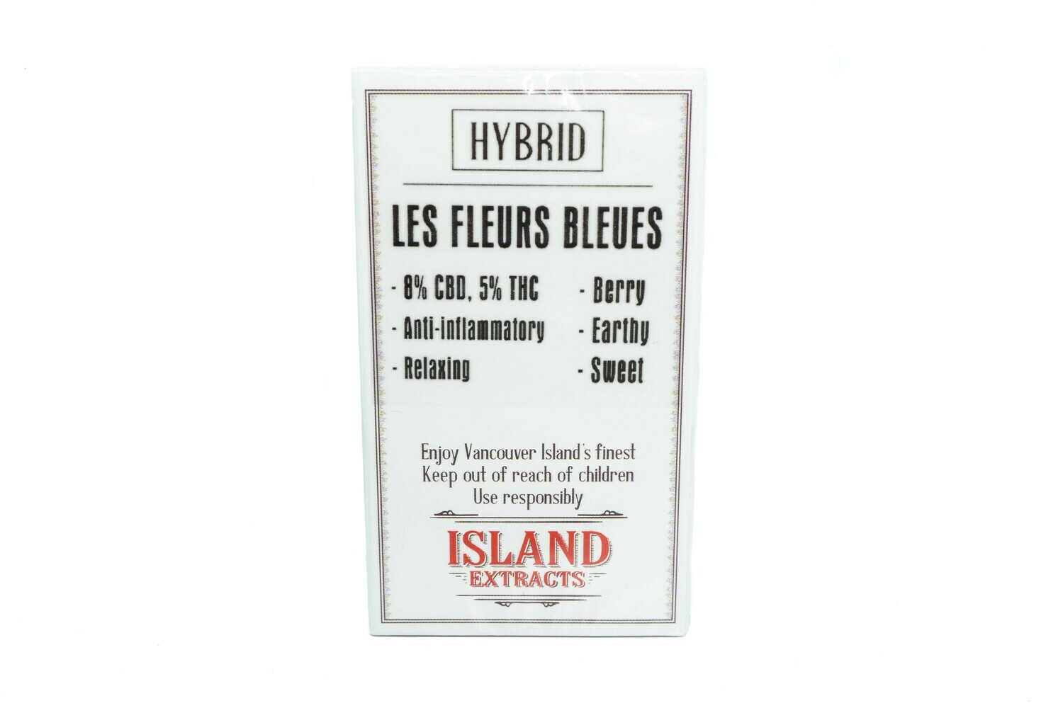 Les Fleurs Bleues CBD (Hybrid) Premium Preroll (5/Pack) By Island Extracts