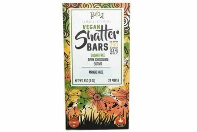 Vegan Dark Chocolate Sativa Shatter Bar By Euphoria Extractions (Sugar Free) (250mg) (Current Strain: Mango Haze)