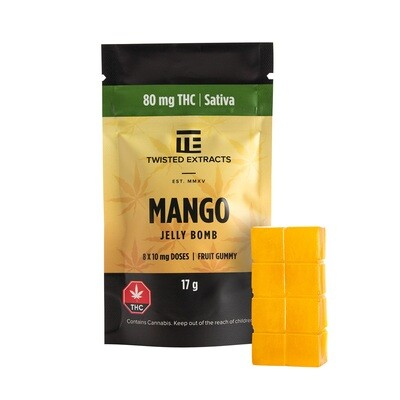 80mg THC Mango Jelly Bomb by Twisted Extracts