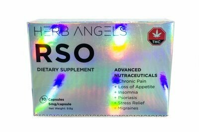 RSO Dietary Supplement (10 x 5mg) Capsules By Herb Angels