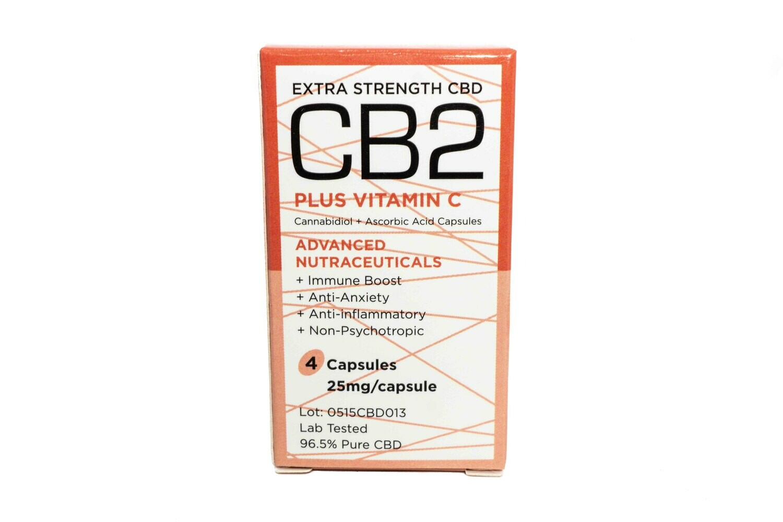 Extra Strength CBD (25mg) + Vitamin C Capsules By Herb Angels