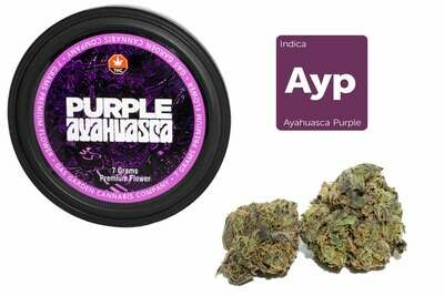 Ayahuasca Purple (7g Premium Flower Tin Can) By Gas Garden