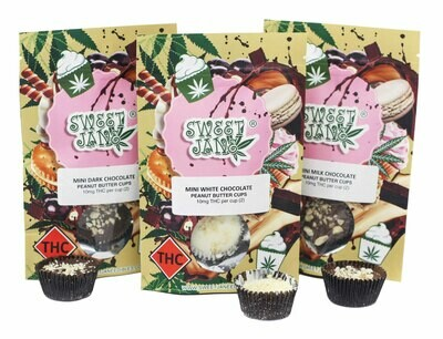 (10mg THC X 2) Mini Chocolate Peanut Butter Cup By Sweet Jane