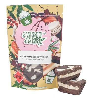 (200mg THC) Vegan Almond Butter Cup By Sweet Jane