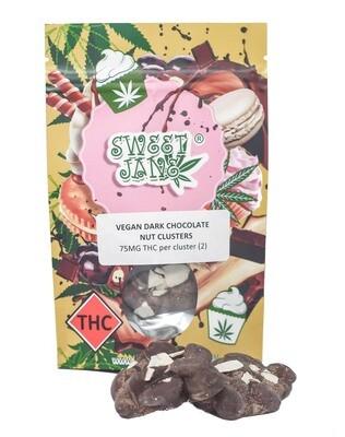 (75mg THC X 2) Vegan Dark Chocolate Nut Clusters By Sweet Jane
