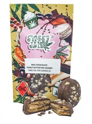 (75mg THC X 2) Peanut Butter Pie Cookies By Sweet Jane