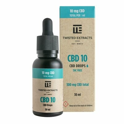 (300mg CBD) CBD 10 Oil Drops By Twisted Extracts