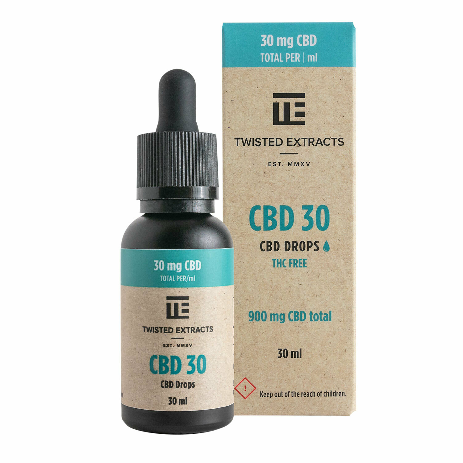 (900mg CBD) CBD 30 Oil Drops By Twisted Extracts