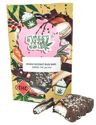 (200mg THC) Vegan Coconut Bliss Bar By Sweet Jane