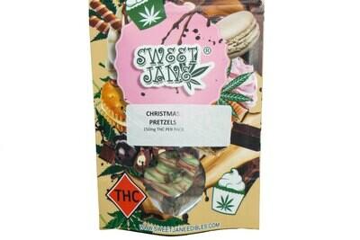 (150mg THC) Christmas Pretzels By Sweet Jane