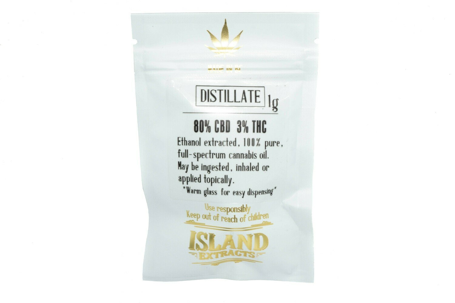 Distallate CBD (1g) Syringe By Island Extracts