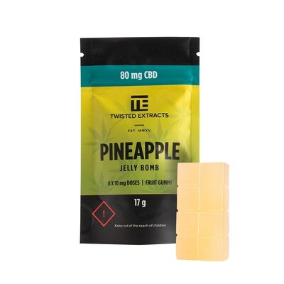 80mg CBD Pineapple Jelly Bomb by Twisted Extracts