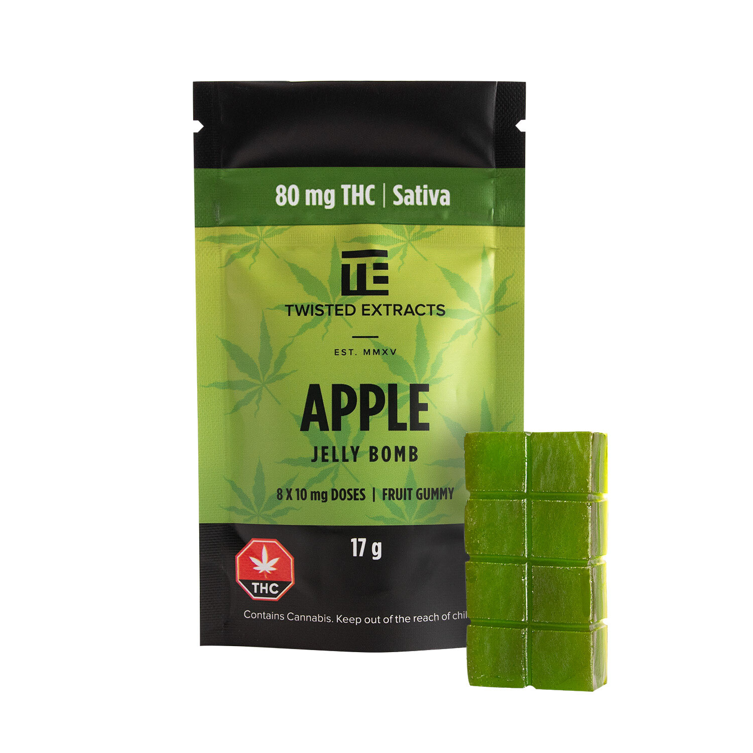 80mg THC Apple Jelly Bomb by Twisted Extracts