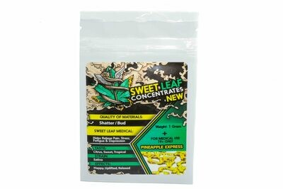 Pineapple Express (Sativa) Premium Shatter By Sweet Leaf Concentrates