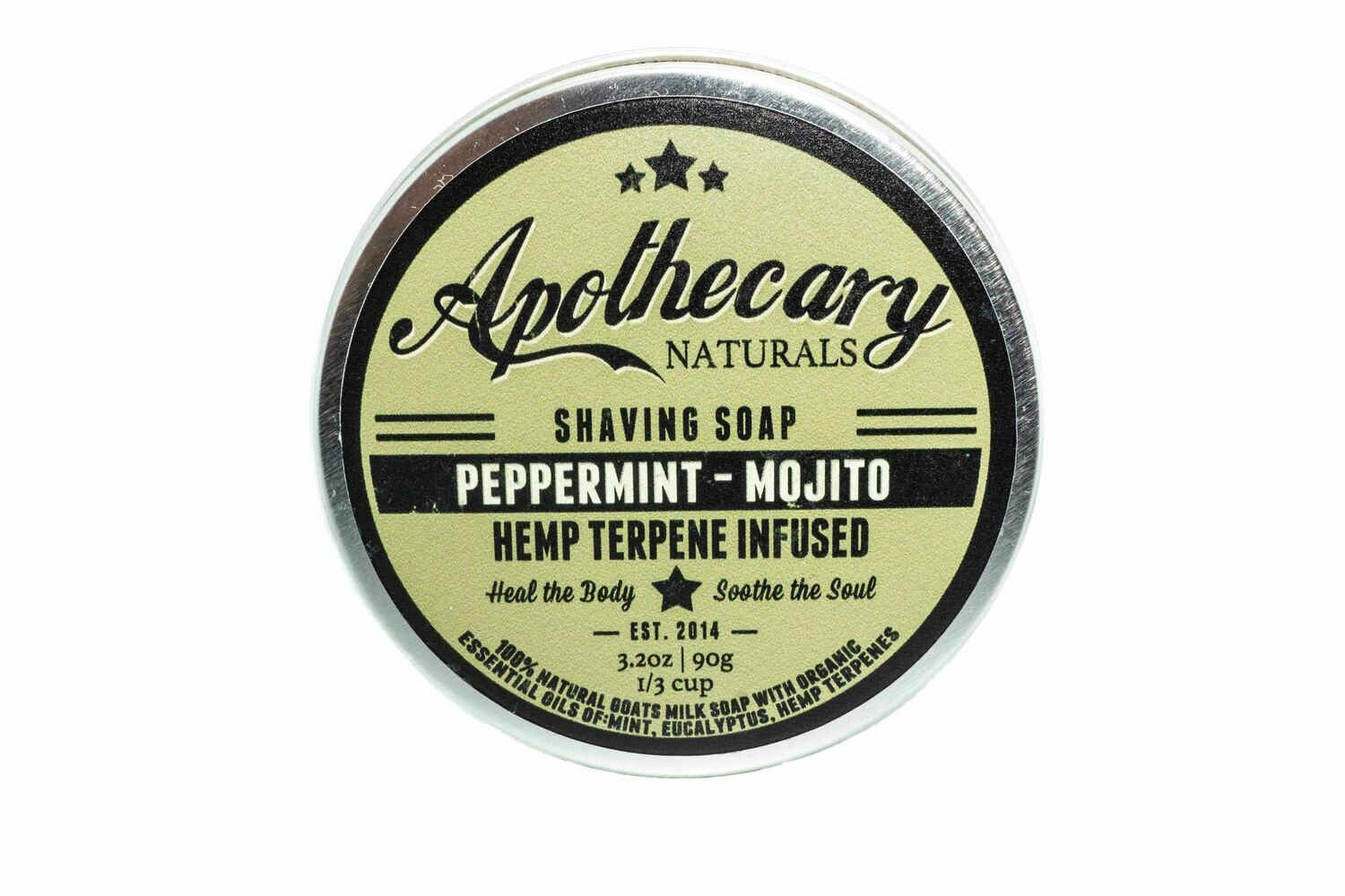 All Natural Organic Shaving Soap By Apothecary
